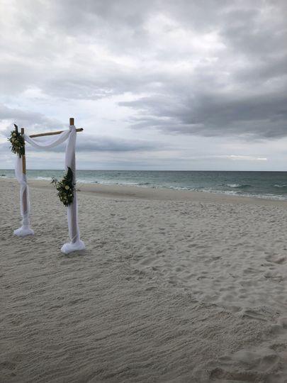On a beach in Destin, FL