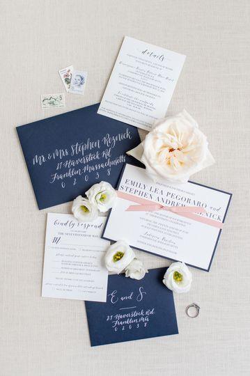 Navy envelopes