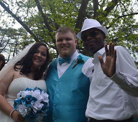 With the newlyweds