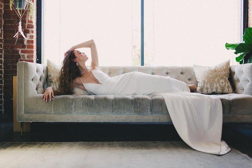 An elegant bride