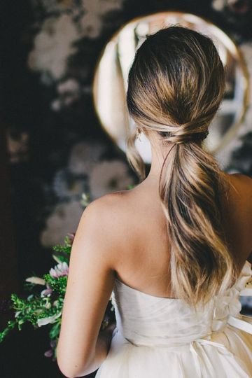 A simple ponytail