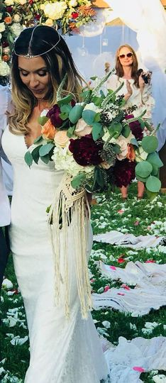 Beautiful boho style wedding