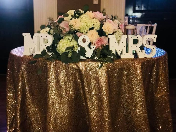 Extravagant sweetheart table