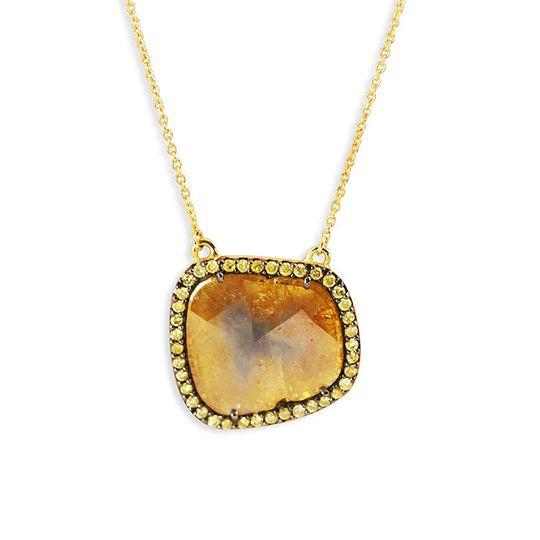 diamond slice necklace 2