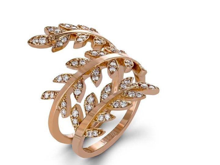 Tmx 1419894764890 1   Simon G Rose Gold Diamond Vine Ring Austin wedding jewelry