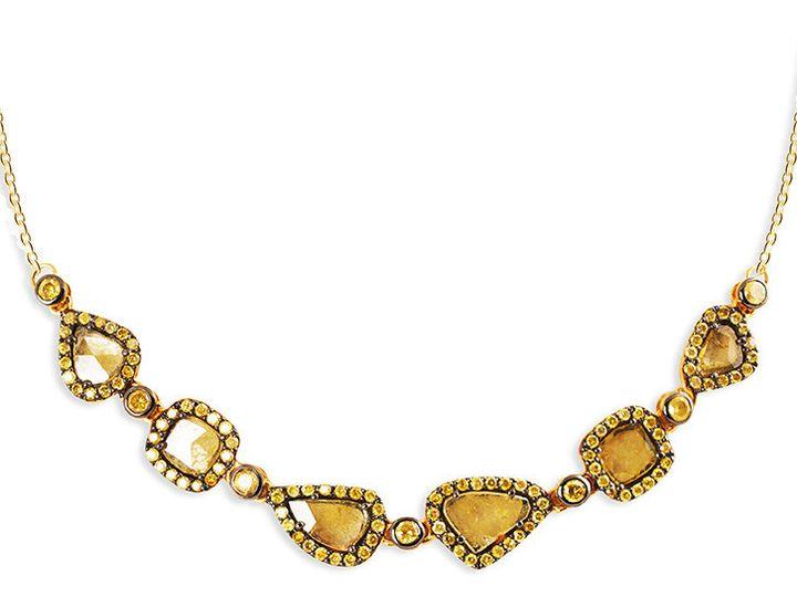 Tmx 1419894774640 2 Diamond Slice Necklace Austin wedding jewelry