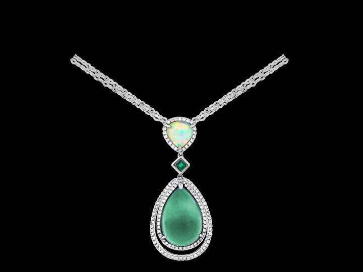 Tmx 1419894824101 9 Opal Necklace From Spark Austin wedding jewelry
