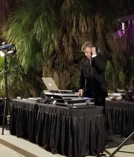 Brian DJing