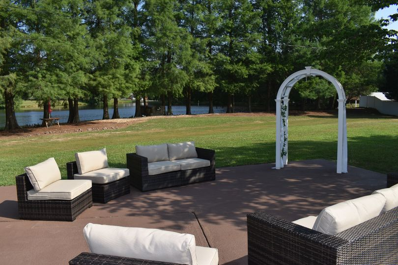 Wedding arbor with seating