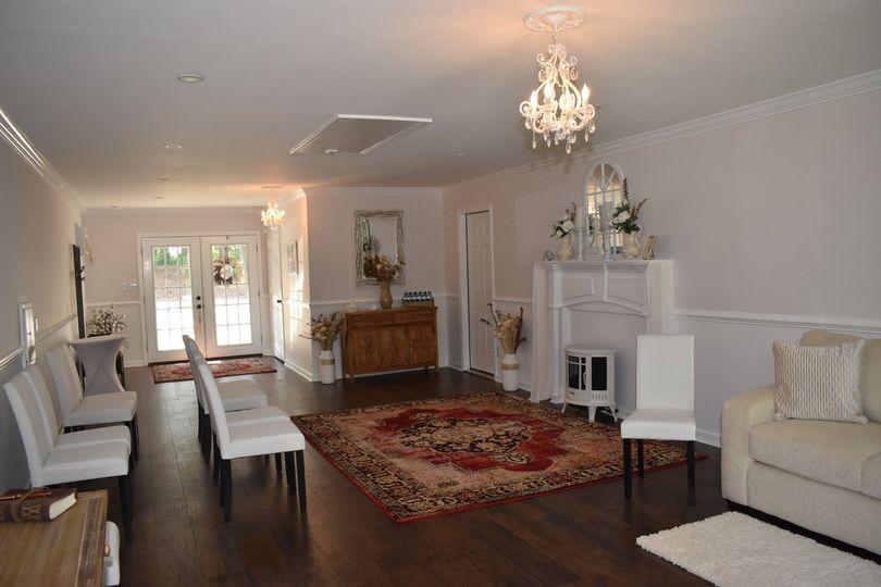 Intimate indoor setting