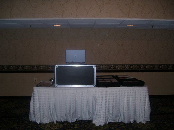 DJ booth and equipment