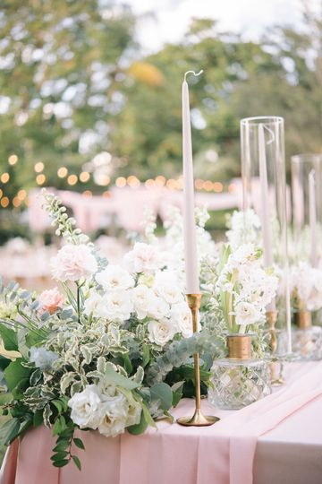 Ethereal floral decor and accents