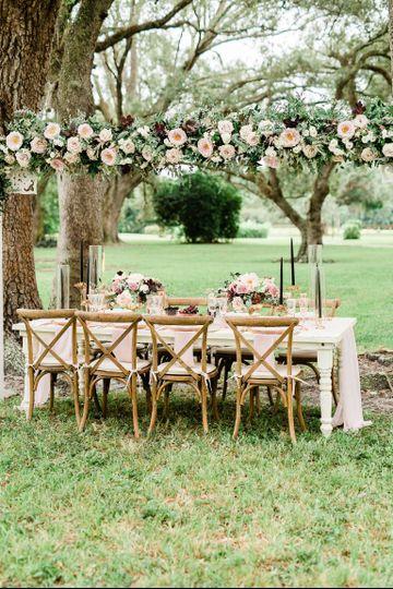 Garden seating layout