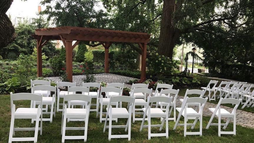 White chair arrangement