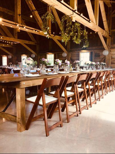 Head table Blue Heron Barn