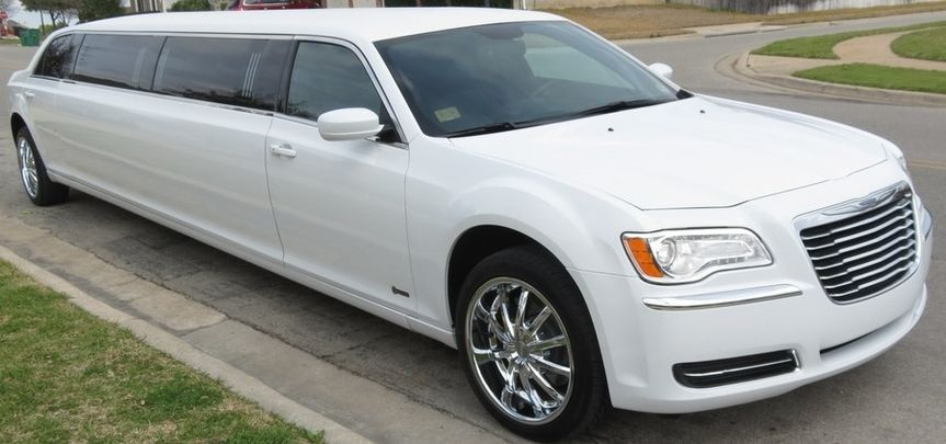 White Chrysler 300 Stretch Limousine 10 Seater