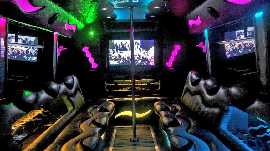 30 Passenger Party Bus Interior