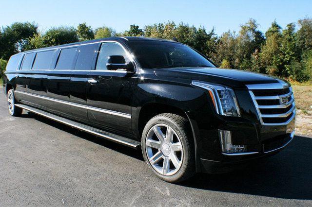 Black Cadillac Escalade Stretch 20 Seater