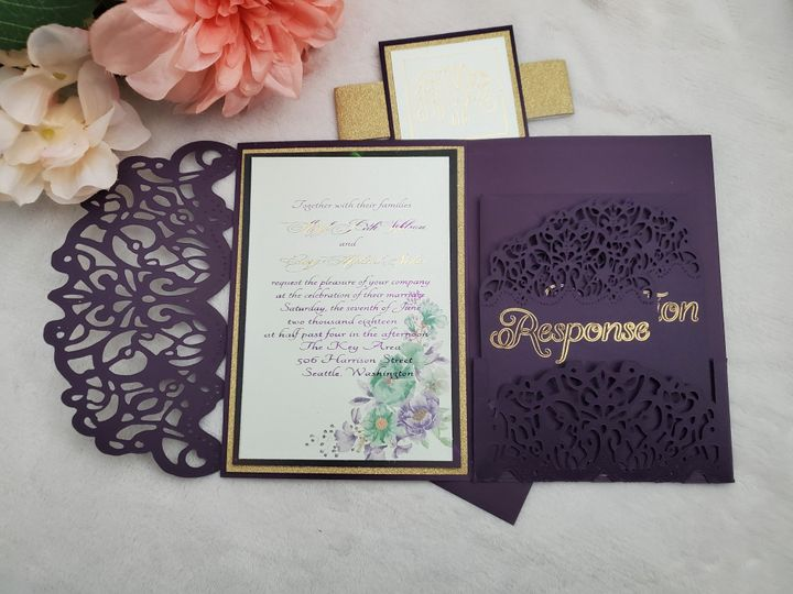 Tmx Love And Lace 2 51 1973047 159286533792699 Barstow, CA wedding invitation