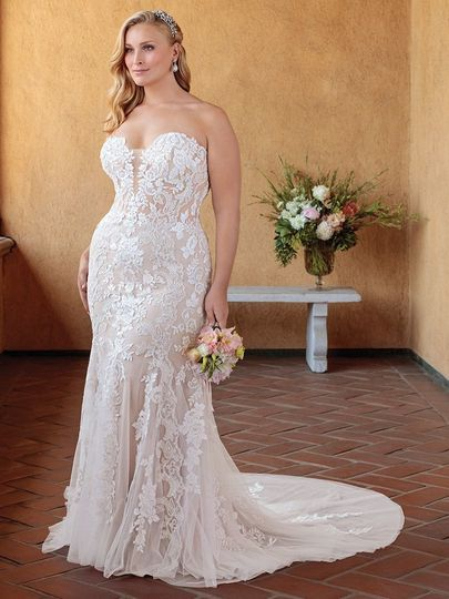 Full on lace wedding dress