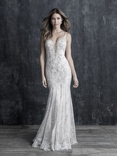 tank strap beaded lace sheath bridal gown 51 124047 157713264919357