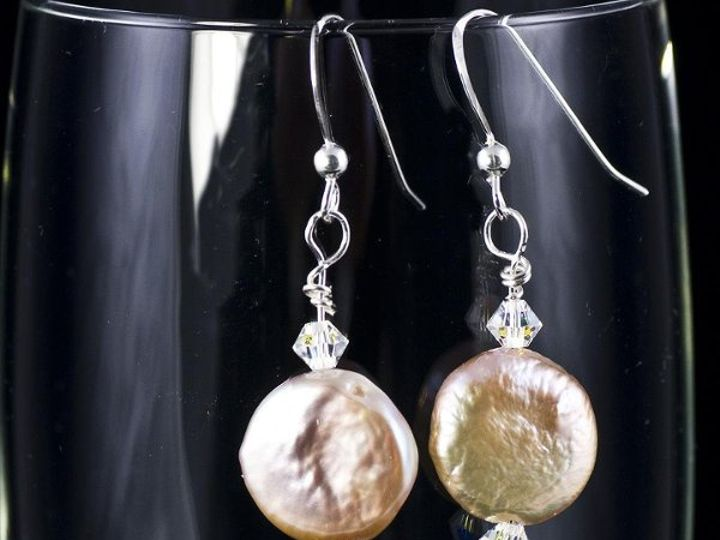 Tmx 1236206095437 Earrings Peachcoinpearlswithcrystalsetsy Gainesville wedding jewelry