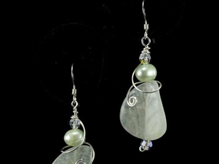 Tmx 1236274899957 Earrings Grnleafwithswirl Gainesville wedding jewelry
