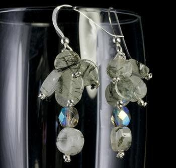 Tmx 1236275125066 Earrings Clusterofmossagatecoinsandsilverbeads Small Gainesville wedding jewelry
