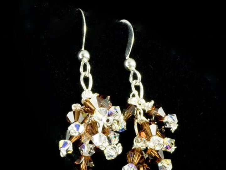 Tmx 1236275332441 Earrings SmokeyquartzpearsandS.cryst.cluster Gainesville wedding jewelry
