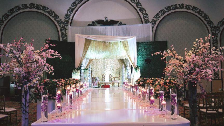 Wedding set up at Royal Albert's