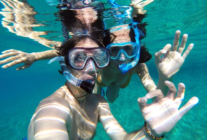 Snorkling in the Caribbean