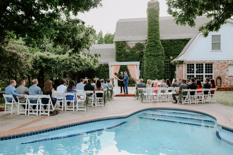 Poolside ceremony