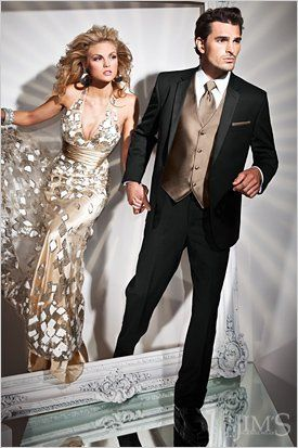 This is a new tuxedo for 2012! Slim Fit Styling by Tony Bowls.