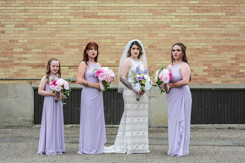 Alaina and her bridal party