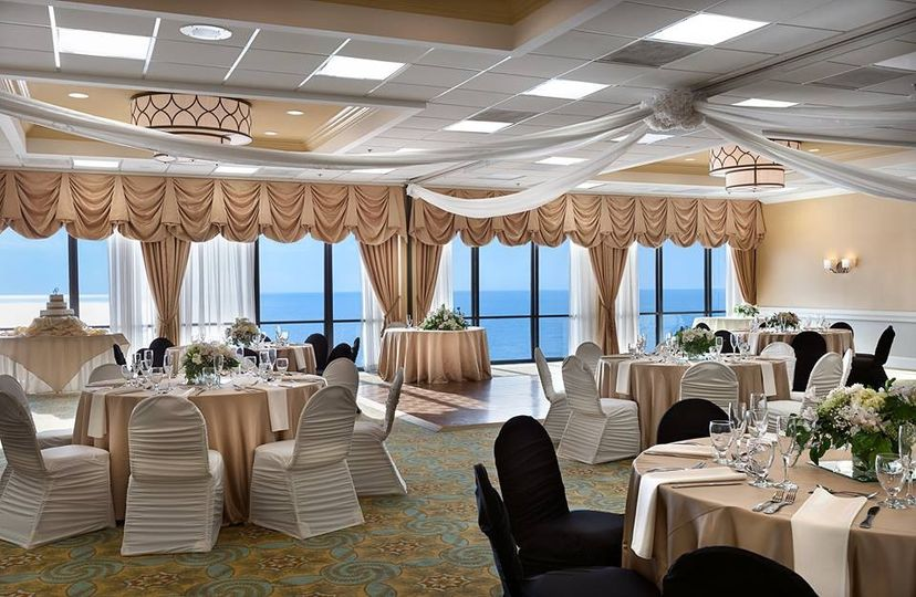 Our 15th floor Oceanfront Ballroom with floor to ceiling panoramic views of the Atlantic Ocean with...