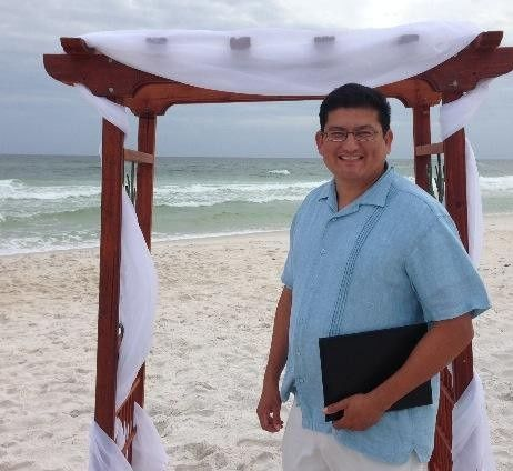 beach wedding pics