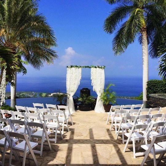 Chairs set up on lanai