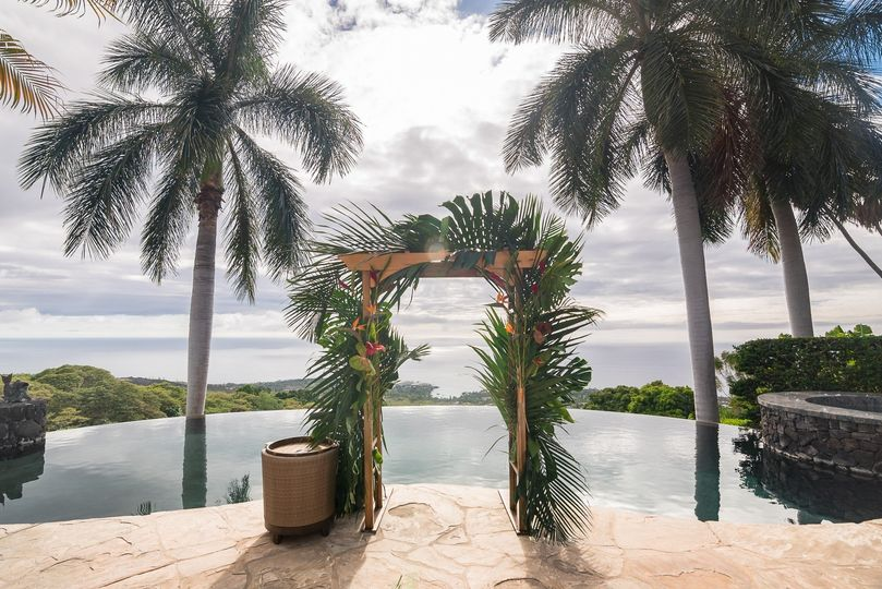 Arch at infinity pool