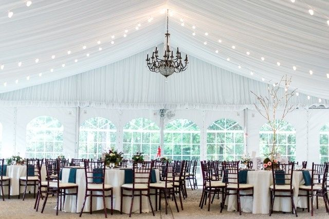 Beautiful tented reception.  photo by www.1001angels.com