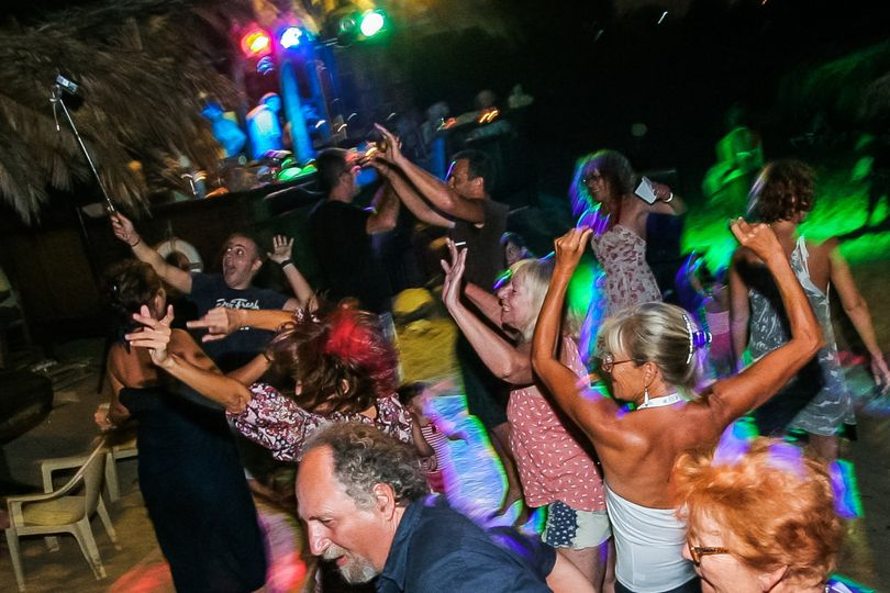 Beach Party at Crete  September 2015 with music from the decades of 60,80, and French music