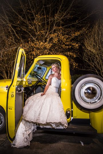 Bride and a truck