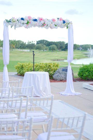 White wedding setup