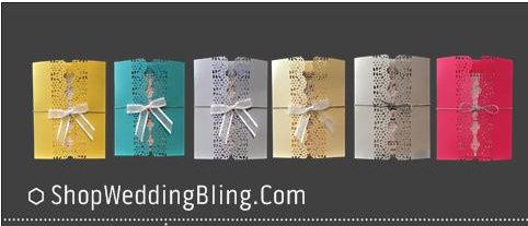 Wedding Invitations, Handmade Wedding Invitations, Wedding Invitations With Bling.