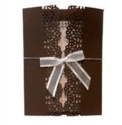Chocolate Brown Wedding Invitation by ShopWeddingBling.com. Yum!