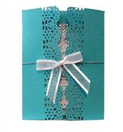 Tiffany Blue Wedding Invitations With Bling by ShopWeddingBling.com