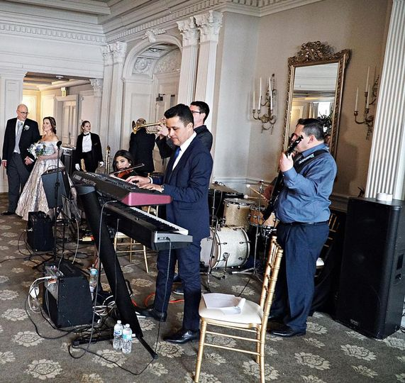 Performing at a wedding