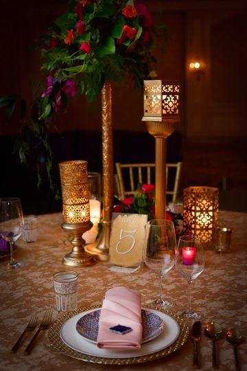 Moroccan wedding table