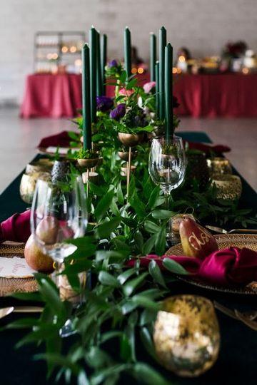 Jewel tone tablescape