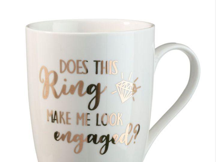 Tmx Does This Ring Make Me Look Engaged Coffee Mug 51 782147 Lynn, MA wedding favor