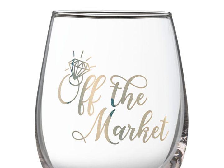 Tmx Off The Market Stemless Wine Glass 51 782147 Lynn, MA wedding favor